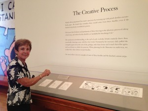 A display at the museum highlights Schulz's creative process.