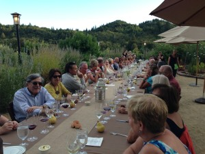 Dining in the garden and under the stars