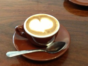 Macchiato with a heart